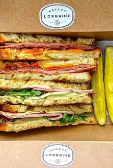 Italian sandwich (above) and Cuban sandwich (below)