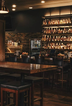 The interior of the newly opened Rock and Rye will seat 50 people.
