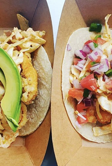 Fish Lonja serves up fresh fish tacos and tostadas topped with fish, shrimp or octopus.