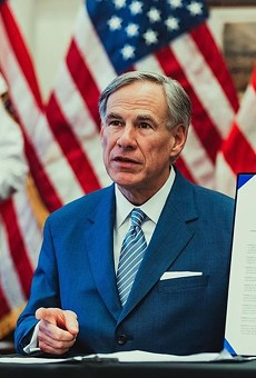 Gov. Greg Abbott discusses an executive order during a 2020 press conference.
