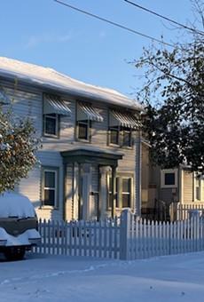 Snow blankets a neighborhood north of downtown San Antonio.