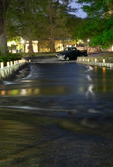 The Low Water Crossing at Brackenridge Park is usually closed to vehicular traffic.