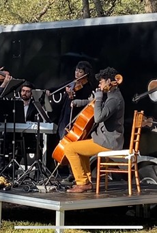 Two of Agarita's concerts this weekend will be held outdoors, utilizing their Humble Hall mobile venue.
