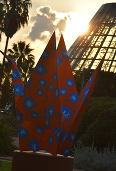 """OrigamiintheGarden²"" will be on view at the Botanical Garden through May 1."
