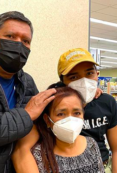 Sebastian Araujo shared the story on social media after her mother, who's undocumented, was initially turned away from a vaccination appointment.