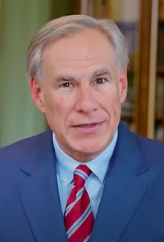 Texas Gov. Greg Abbott speaks during a video announcing his executive order.