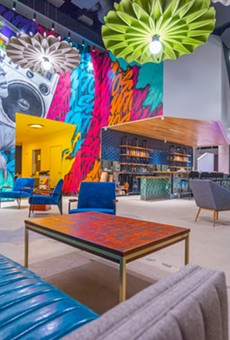 During the event, attendees will take a breather at immersive art gallery Hopscotch's lounge.