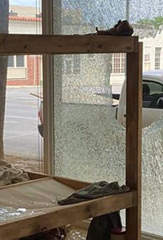 Vandal smashes Artpace window, affecting exhibition by San Antonio artist José Villalobos