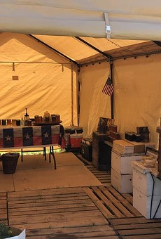 Trent Anderson's burgeoning BeeSpace was devastated by severe weather that moved through SA this week.