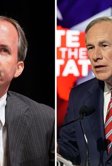 Attorney General Ken Paxton, left, and Gov. Greg Abbott. Credit: