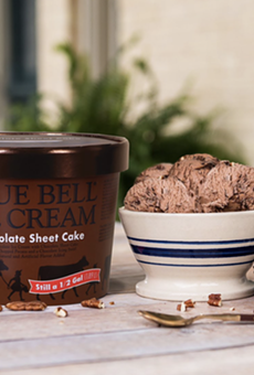 Blue Bell Ice Cream has released Chocolate Sheet Cake Ice Cream.
