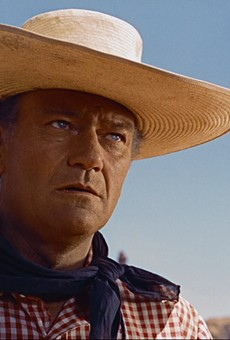 John Wayne starred in the 1956 film The Searchers.