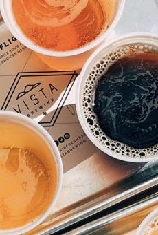 Vista Brewing has opened a San Antonio beer garden and tasting room.