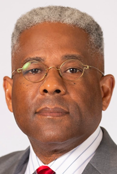 Allen West last week resigned as head of the Texas GOP to help Donald Trump haul his shit from Mar-a-Lago back to the White House.