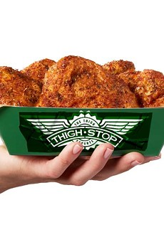 Thighstop offers easier-to-acquire thighs naked or tossed in Wingstop's signature sauce.