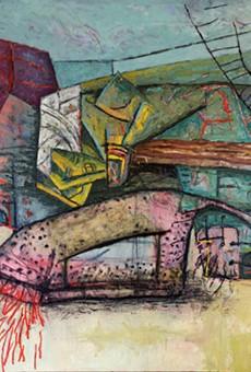 John Guzman, Pleasure and Punishment, 2021, oil on canvas, 96 x 60  in.