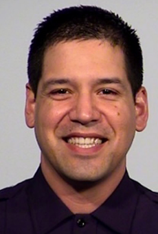 Officer Dezi Rios, 38, faces charges of DWI and failure to stop and provide information. He could face additional assault charges, according to SAPD officials.