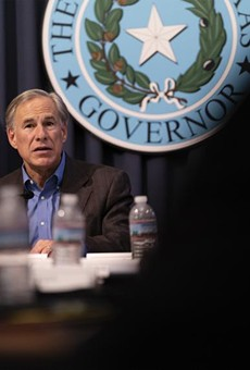Gov. Greg Abbott hosted a briefing at the Texas Capitol earlier this month with sheriffs from border communities.