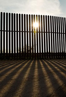 An incomplete border wall along the Rio Grande River in South Texas, ordered under the George W. Bush administration, has had environmental and cultural impacts.