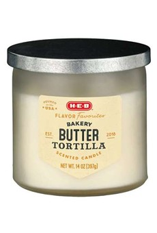 San Antonio-based H-E-B is now selling butter tortilla-scented candles.