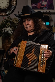 San Antonio: Eva Ybarra, the Accordion Queen, poses for a portrait. After years without broad recognition, she is finally getting her due.