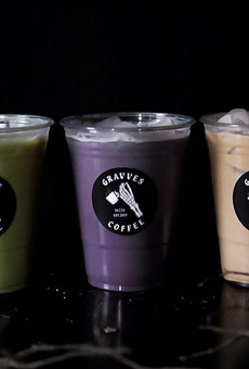 Gravves Coffee is bringing spoopy vibes to the St. Mary's Strip.
