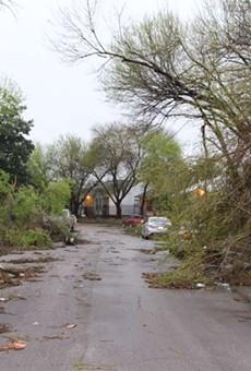 Severe weather on Sunday night caused extensive damage to San Antonio homes.