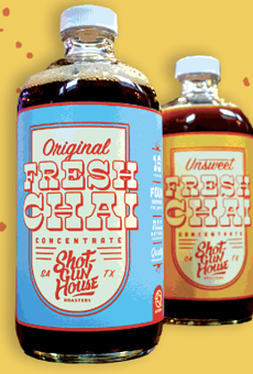 Shotgun House Roasters' fresh chai concentrate is now available at Central Market.