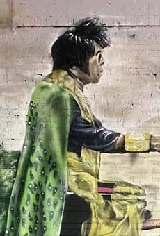 San Antonio's 'Hispanic Elvis' gets a mural tribute from street artist Colton Valentine