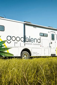 Medical cannabis dispensary goodblend Texas is taking its Cannabus to San Antonio and other big cities to educate people about the state's expanded medical marijuana program.