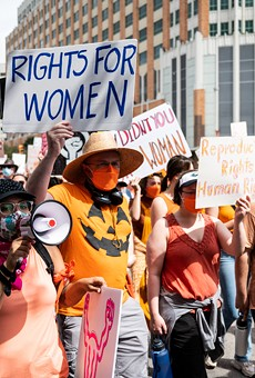 San Antonio protesters take to the streets during a recent march against Texas' abortion ban.