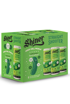 Shiner Beer has released a new Juicy Dill Pickle Straight Shooter hard seltzer.