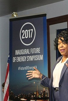 CPS Energy CEO Paula Gold Williams speaks during an event.