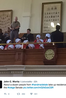 Women Dress in 'Handmaid's Tale' Robes to Protest Anti-Abortion Laws at Texas Capitol
