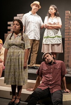 Gabriel Sánchez, Eraina Porras, Salvador Valadez, María Ibarra and Joshua Segovia in the Classic Theatre's production of The House on Mango Street