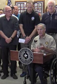 Gov. Greg Abbott addresses public at Corpus Christi press conference