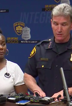 Adrienne House joined Chief McManus at the Wednesday press conference.