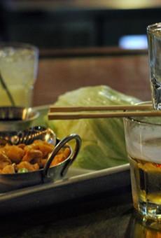 Lettuce wraps, and sake bombs.