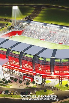 Proposed design for the Toyota Field expansion if MLS accepts San Antonio's bid.