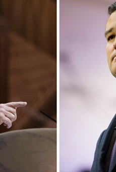 Senator John Cornyn (left) and Senator Ted Cruz (right)