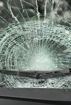 Two Teens Allegedly Chucked a Log at a Moving Car on I-10