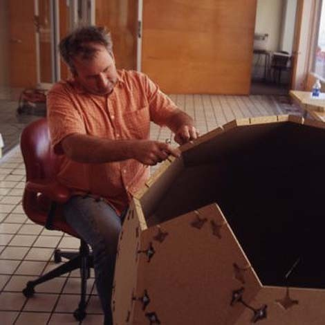 ROBINSON AT WORK ON A 2005 EXHIBITION