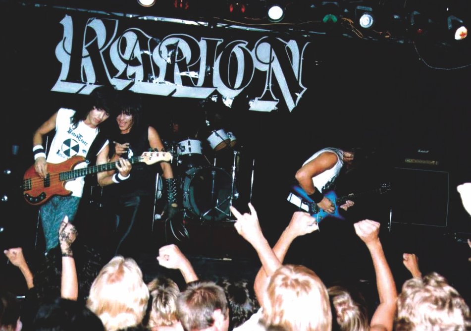 Art Villareal and Karion shred in front of enthusiastic fans. - COURTESY