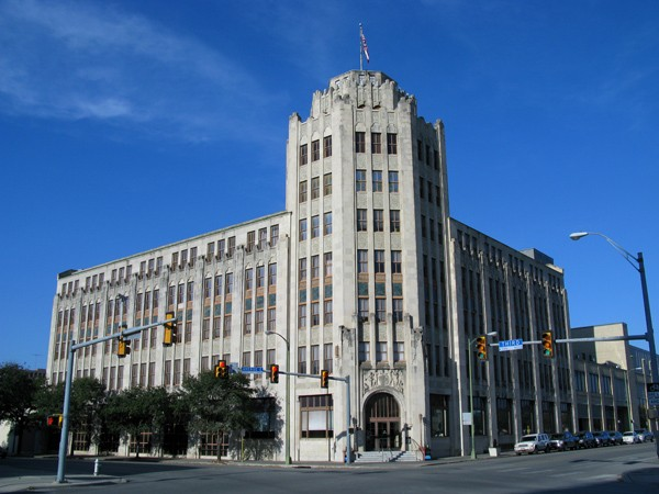 The San Antonio Express-News building houses the paper's newsroom, printing operations and support staff. - COURTESY