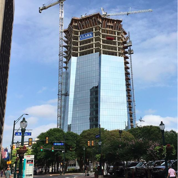 Frost Bank Tower is one of the numerous construction projects currently underway in San Antonio. - VIA PELLI CLARKE PELLI ARCHITECTS' INSTAGRAM