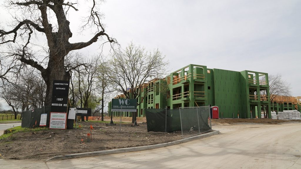 The Mission Escondida luxury apartments are being build by local developer White-Conlee at 1507 Mission Road. - BEN OLIVO / HERON