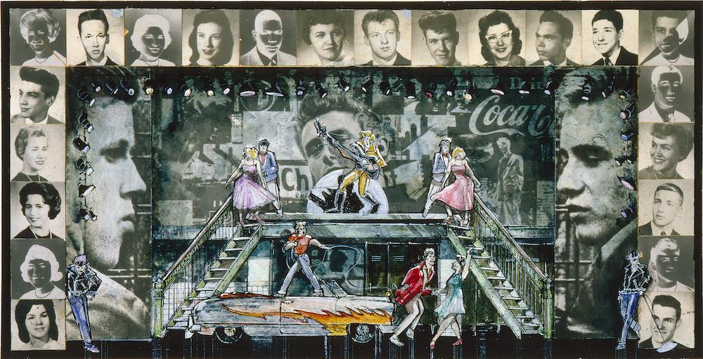 DOUGLAS SCHMIDT, SCENE DESIGN FOR GREASE, 1972