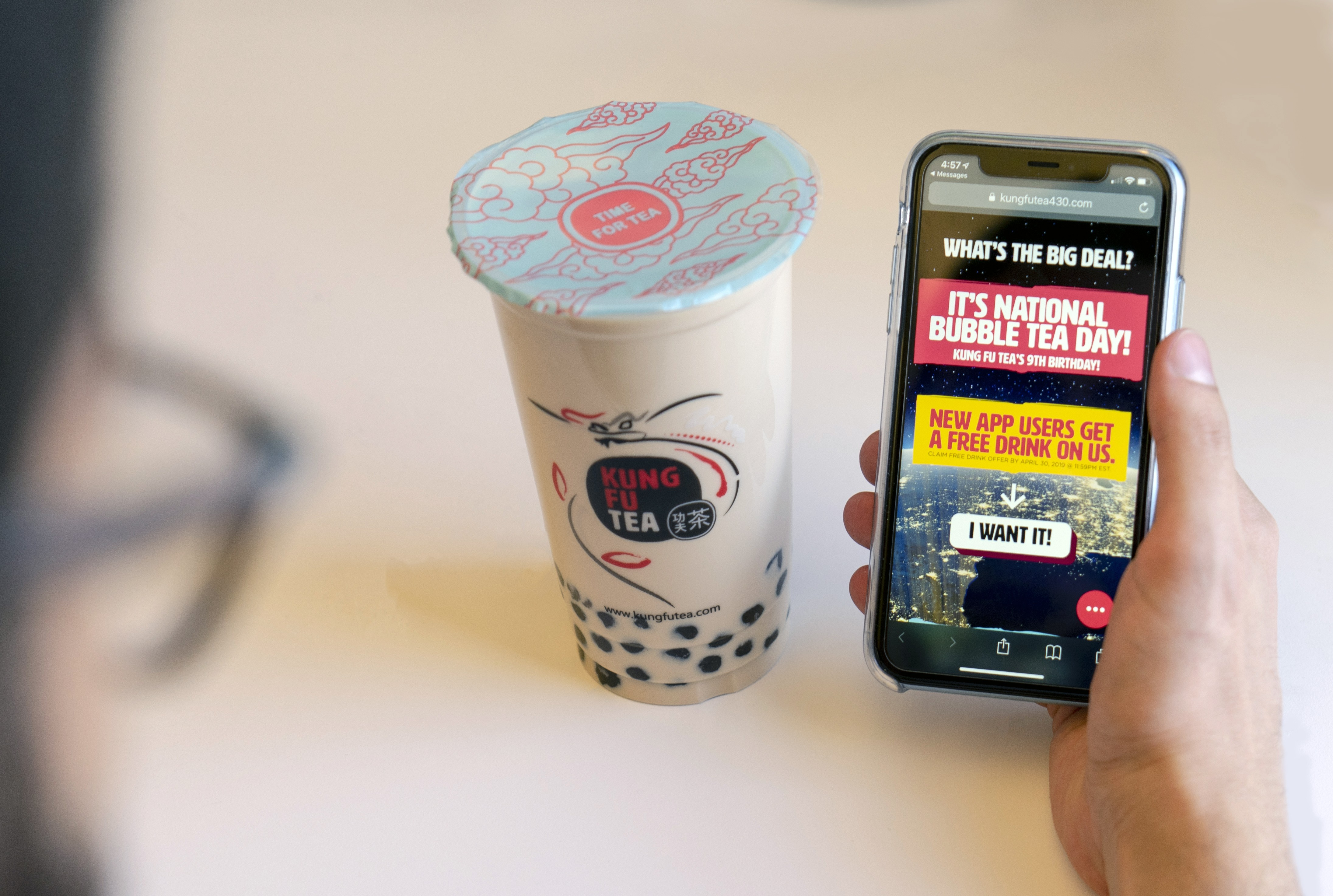 Kung Fu Tea Promises Free Boba, BOGO Specials for New App Users