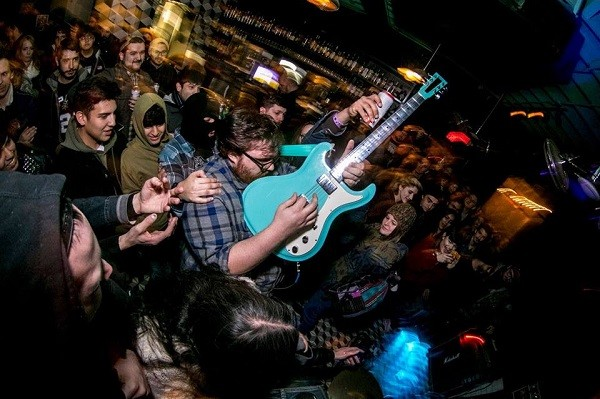 Grasshopper Lies Heavy frontman James Woodard serves up the skronk. - FILE PHOTO