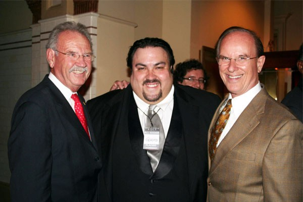 A 2012 photo of Mark Richter (center) with former Mayor Phil Hardberger and County Judge Nelson Wolff. - FACEBOOK